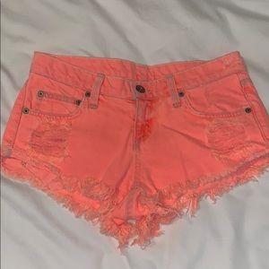 NWT!! Carmar orange jean shorts size 24
